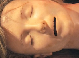 ??  ?? Anatomical Annie was used to train people in CPR. The face was modelled on an actual drowned woman.