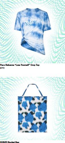 "??  ?? Paco Rabanne ""Lose Yourself"" Crop Top £170 KENZO Bucket Bag £635"