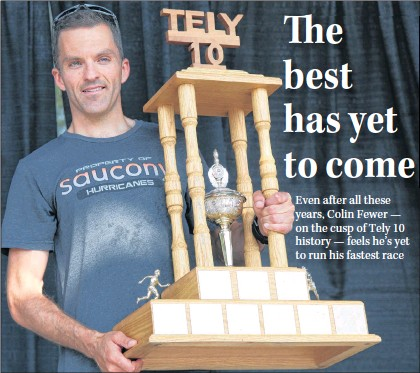 ?? SUBMITTED PHOTO ?? Colin Fewer, shown in this file photo, currently has nine Tely 10 championships, tying him with provincial Sports Hall of Famer Pat Kelly for the most ever. One more win and Fewer goes in the history books.