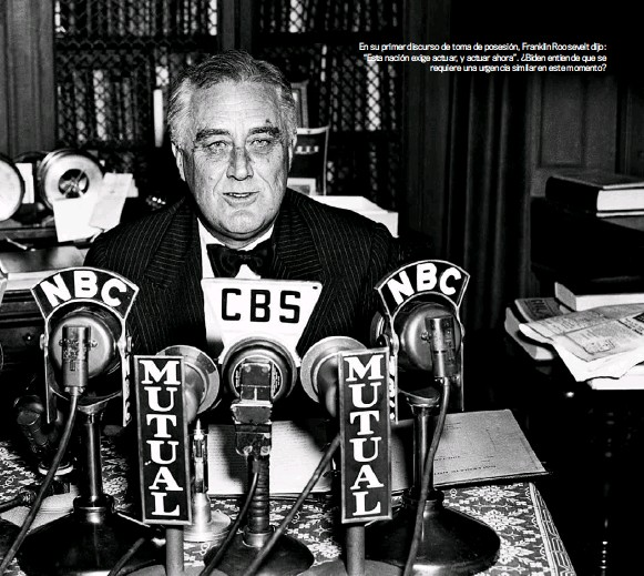 """??  ?? En su primer discurso de toma de posesión, Franklin Roosevelt dijo: """"Esta nación exige actuar, y actuar ahora"""". ¿Biden entiende que se requiere una urgencia similar en este momento?"""