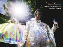"""??  ?? """"People, when they say 'streetwear', they miss the central component, which is that it's real people; it's clothes that are worn on the street"""" Rapper Playboi Carti models a look from Abloh's first collection for Louis Vuitton."""