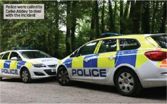 ??  ?? Police were called to Calke Abbey to deal with the incident