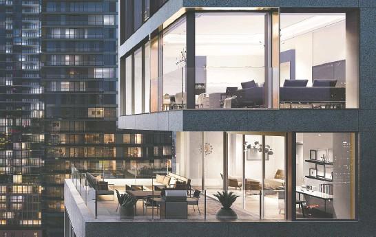 ?? Photo courtesy of Kalovi da ?? Kalovida's 18-storey Bungalow on Mercer take open- concept design to the next level.