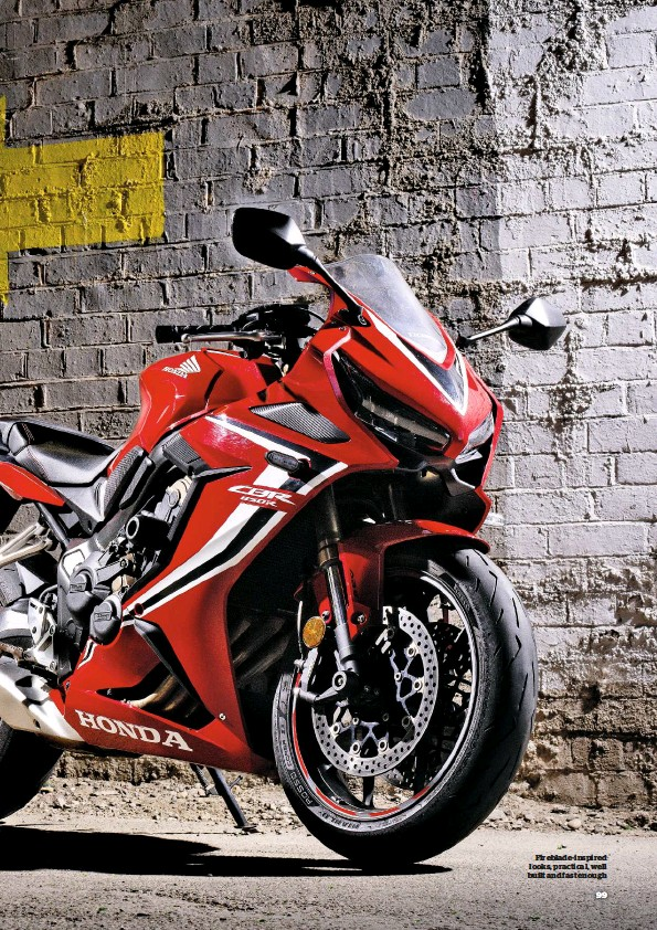 ??  ?? Fireblade-inspired looks, practical, well built and fast enough
