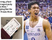 ??  ?? Thirdy Ravana, right, in file photo. At left is his airline ticket.