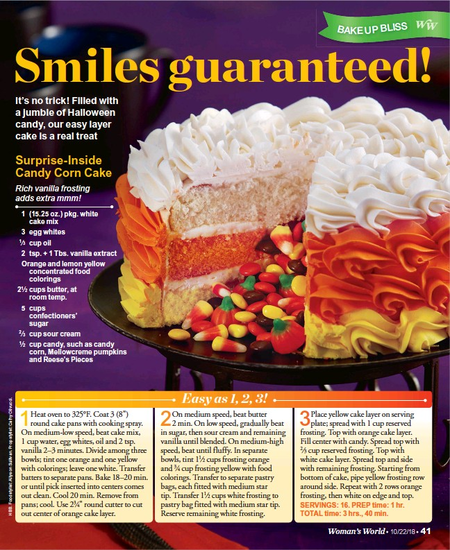 eab2753c4521d PressReader - Woman s World  2018-10-15 - Surprise-inside Candy Corn