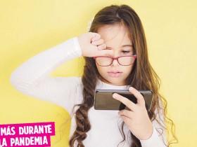 ?? Archivo ?? Se ha encontrado que el uso de dispositivos electrónicos por el trabajo y estudios a distancia ha provocado un aumento de casos de miopía.