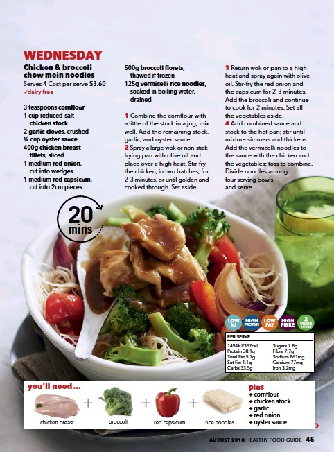 Pressreader Healthy Food Guide Australia 2018 08 01 Chicken