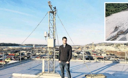 ?? PHOTO: SUPPLIED ?? Eyes on the skies . . . University of Otago masters graduate and 2020 New Zealand Fulbright Scholar Hamish Prince has recently published new research on atmospheric rivers in New Zealand.