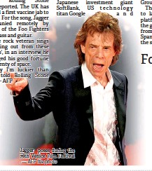 ?? — AFP file photo ?? Jagger poses during the 76th Venice Film Festival .