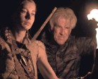 """?? PROVIDED BY SABAN FILMS ?? Jen (Charotte Vega) and her dad (Matthew Modine) face violent people in """"Wrong Turn."""""""