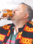 ?? Picture: WWW.CARBIEWARBIE.COM ?? CHEERS: Anthony Albanese drinks the beer.