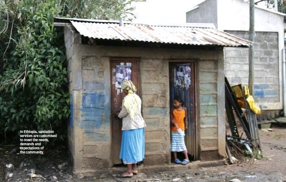??  ?? PYXERAGLOBLE.ORG In Ethiopia, sanitation services are customised to meet the needs, demands and expectations of the community
