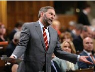 ?? SEAN KILPATRICK/THE CANADIAN PRESS FILE PHOTO ?? Current NDP Leader Tom Mulcair's name is rarely mentioned by candidates after his play-it-safe strategy backfired in 2015.