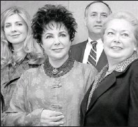 ?? By Marty Lederhandler, AP ?? In 1996: Taylor with Natasha Richardson, left, fellow amfAR honoree Continental Airlines' Paul Stevens, AIDS researcher Mathilde Krim.