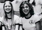 ??  ?? Below A young Cynthia (left) with Kristy McNicol in Little Darlings. Right As lawyer Miranda with Carrie in Sex and the City series 2, 1999