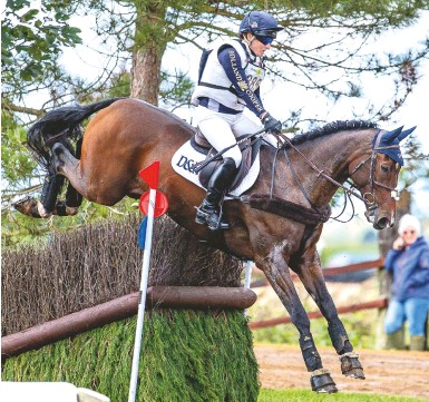 """??  ?? """"He's felt mega since lockdown,"""" says Laura Collett of London 52 as the pair win a CCI4*-S section"""
