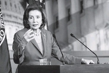 """?? STEFANI REYNOLDS/THE NEW YORK TIMES ?? House Speaker Nancy Pelosi said Tuesday that""""there are choices to be made."""""""