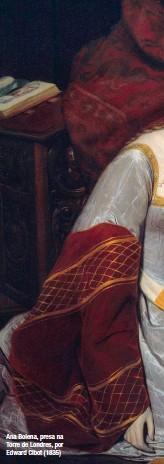 ??  ?? Ana Bolena, presa na Torre de Londres, por Edward Cibot (1835)