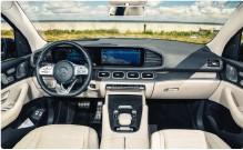 ??  ?? ▲ Kabinen er luksuriøs og gennemført, men føles ikke lige så hightech som i BMW X7.
