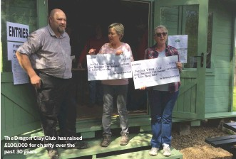 ??  ?? The Dragon Clay Club has raised £100,000 for char­ity over the past 30 years