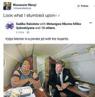 ??  ?? GOSH: A tweet from Mzwanele Manyi's account