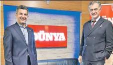 ??  ?? TGSD Başkanı Hadi Karasu (sağda) ile Başkan Yardımcısı Ramazan Kaya, geçen hafta DÜNYA Gazetesi'ni ziyaret etti.