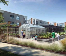 ??  ?? Community gardens, and a greenhouse, are being considered for the upcoming Daniels FirstHome Markham Sheppard development.
