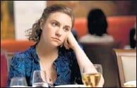 ?? By Jojo Whilden, HBO ?? One of the Girls: Lena Dunham writes, directs and stars.