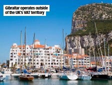 ??  ?? Gibraltar operates outside of the UK'S VAT territory