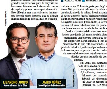 ??  ?? LISANDRO JUNCO Nuevo director de la Dian JAIRO NÚÑEZ Investigador de Fedesarrollo