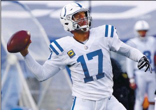 ?? JEFFREY T. BARNES — THE ASSOCIATED PRESS ?? The Indianapolis Colts' Philip Rivers announced his retirement after 17 seasons in the NFL on Wednesday.