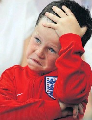 ?? Pictures: BRIAN LAWLESS/PA RICHARD SELLERS ?? Wayne Rooney's son Kai, six, watches anxiously