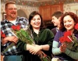 """?? ASSOCIATED PRESS ?? ROLE MODEL: The character John Goodman (left) played on the sitcom """"Roseanne"""" was cited as a positive example of a television father figure amid a glut of workingclass bungling TV dads."""