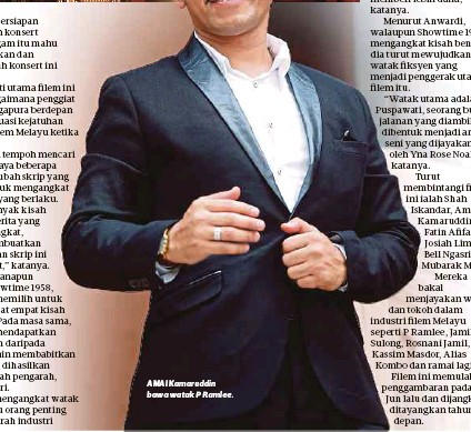 ??  ?? AMAI Kamaruddin bawa watak P Ramlee.