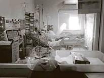 ?? Bruno Santos - 16.fev.21/folhapress ?? Pacientes internados com Covid-19 em Araraquara; cidade fez lockdowm