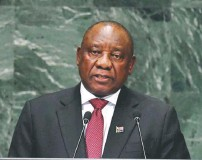 ?? TIMOTHY A. CLARY/AGENCE FRANCE-PRESSE/GETTY IMAGES ?? South African President Cyril Ramaphosa