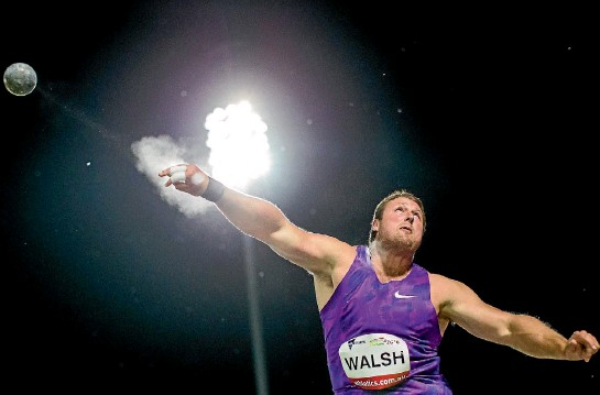 ?? PHOTO: PHOTOSPORT ?? Tom Walsh may have lit up men's shot putting in New Zealand in recent times, but all four of his losses this year have been inflicted by Ryan Crouser.