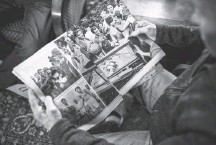 ??  ?? Jacques Mouchel, here reviewing pictures, is one of four living people who attended the 1944 match. He will turn 89 this year.