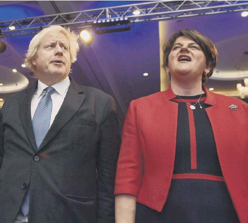 ??  ?? 0 Boris Johnson's new bill could change the Northern Ireland Protocol, which is unpopular with Arlene Foster's DUP