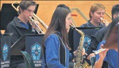 ?? Tribute: ?? The Benalla P-12 band performed at the assembly.