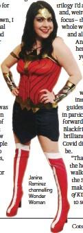 ??  ?? Janina Ramirez channelling Wonder Woman