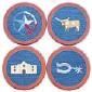 ??  ?? Smathers & Branson Texas Life needlepoint coasters, $75, Saint Bernard, 5570 W. Lovers Lane, Dallas.