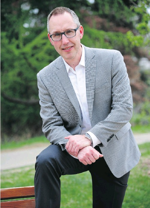 """?? Bruce Edwards/Edmonton Journal ?? Tim Seefeldt had a stroke at age 45 that """"sizzled"""" his memory and took away his literacy and numeracy. After four years of hard work and rehabilitation, he is happy to say he is living an almost normal life."""