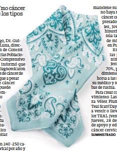 ?? / SUMINISTRADA ?? Conciencia. Por tercer año consecutivo la marca local de accesorios multiuso The Eccentric Label rinde homenaje al legado de Rhaiza Vélez Plumey, y en esta ocasión crea el TEAL 2021 Matching Set, un scarf acompañado de mascarilla en combinación.