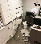 ?? Provided ?? A 16-year-old driver crashed into the Madison County Animal Control building. No one was injured.