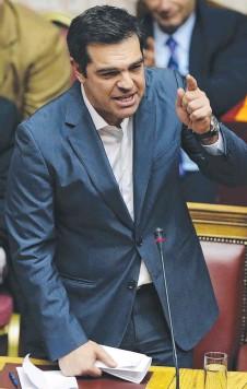 ??  ?? Greek Prime Minister Alexis Tsipras yesterday.