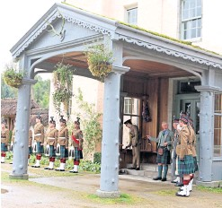 ??  ?? The Duke of Rothesay presents service medals at Birkhall