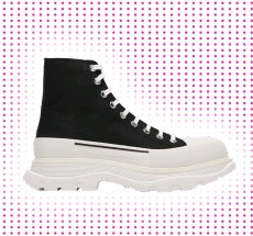 ??  ?? Alexander Mcqueen Tread Slick Chunky-Sole Canvas Trainers £490 at MATCHESFASHION