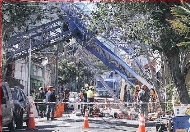 ??  ?? La constructora a cargo debía realizar una construcción de tres pisos para la Fundación Tacal, quiénes lamentaron el hecho y pidieron investigación.